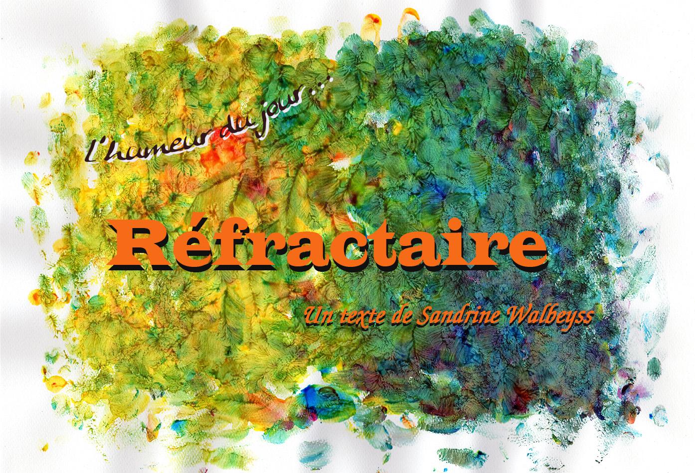Réfractaire, un texte de Sandrine WALBEYSS